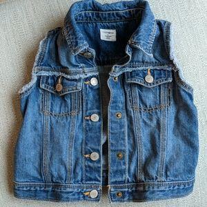 BabyGap girls jean jacket vest